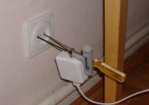 Bulgarian electrical socket, American plug